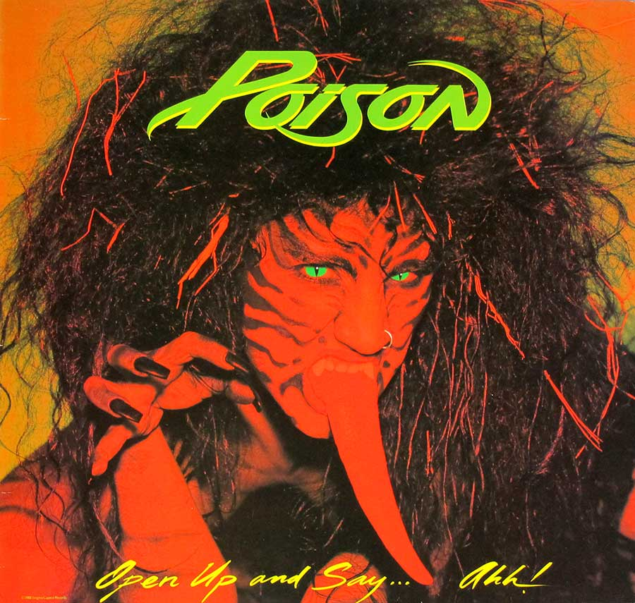 High Resolution Photo poison open up and say ah