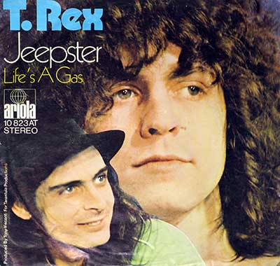 Thumbnail of T. REX - Jeepster / It's a Gas  album front cover