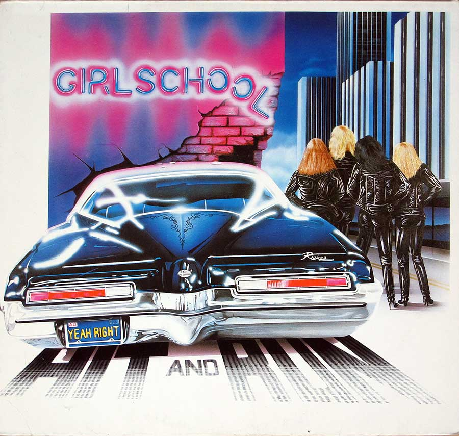 Front Cover Photo Of GIRLSCHOOL - Hit and Run ( British Heavy Metal )