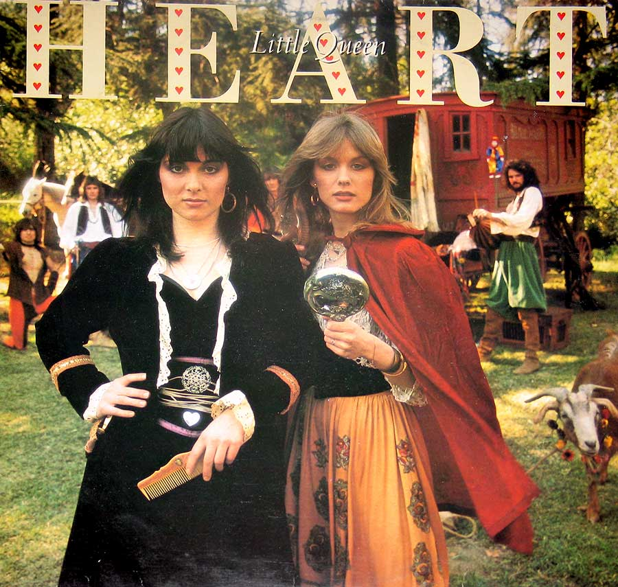 "HEART Little Queen / Ann Wilson Nancy Wilson Portrait PRT 82075 12"" VINYL LP ALBUM front cover https://vinyl-records.nl"