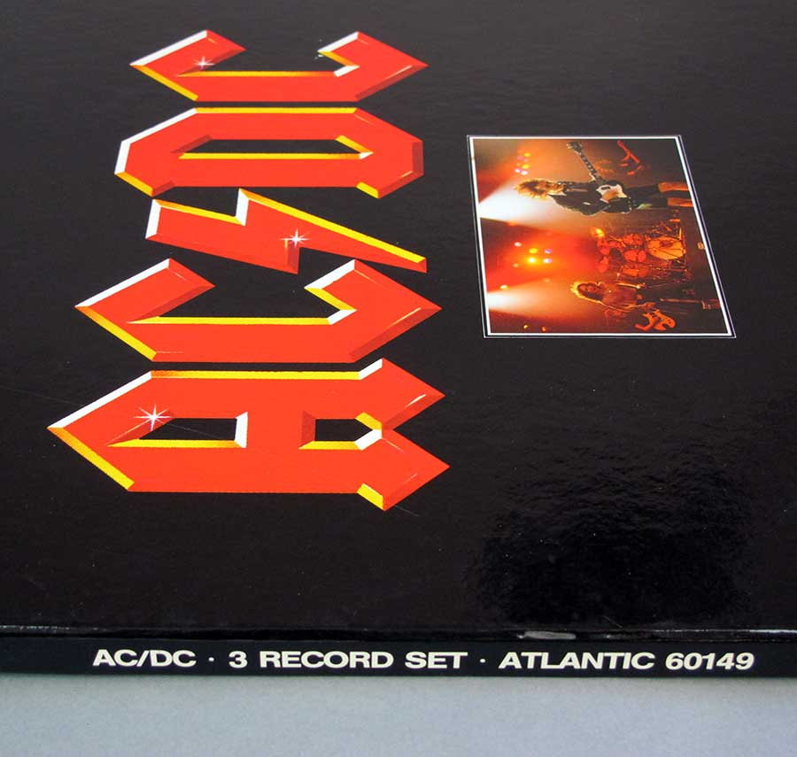 Side view Photo of album showing catalognr of AC/DC - 3 RECORD SET ATLANTIC 60149