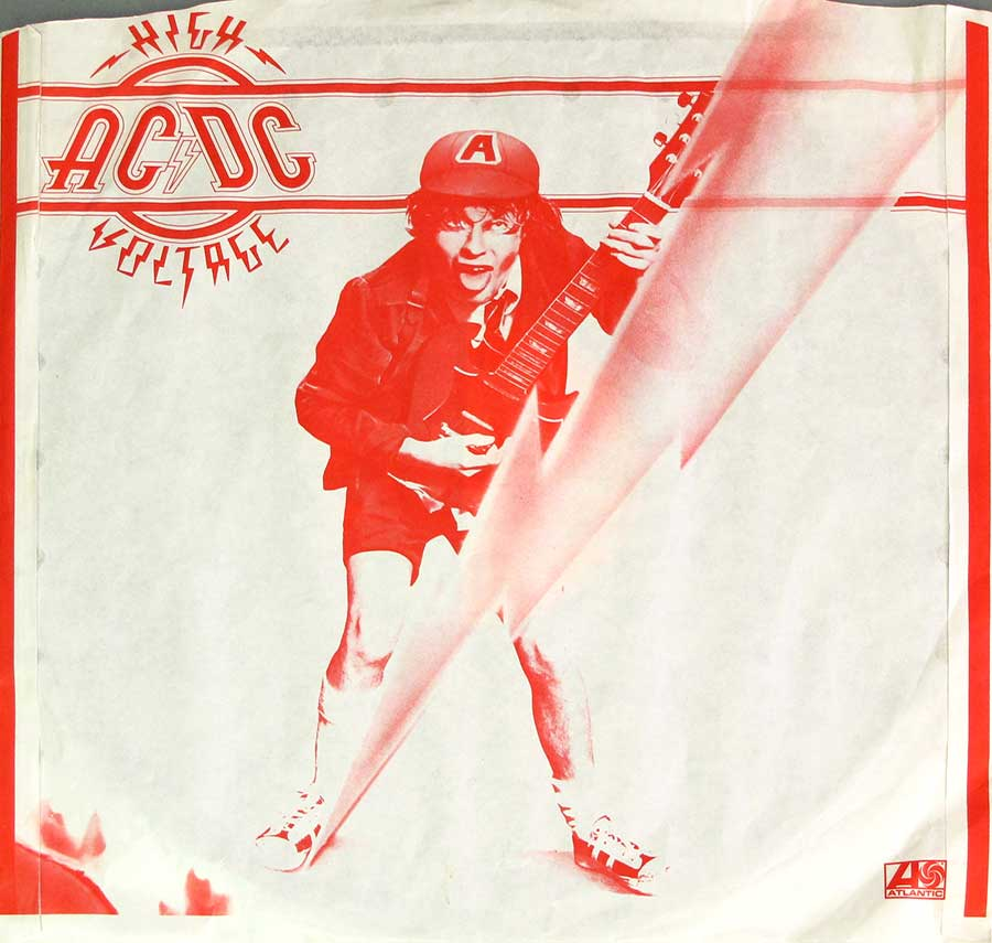 Photo of the custom inner sleeve #1 AC/DC - High Voltage 3 RECORD SET