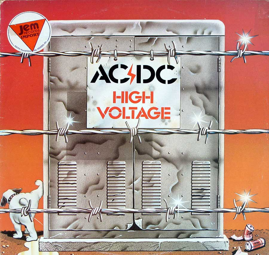 Album Front Cover Photo of AC/DC - High Voltage ( Genuine Australian Release )