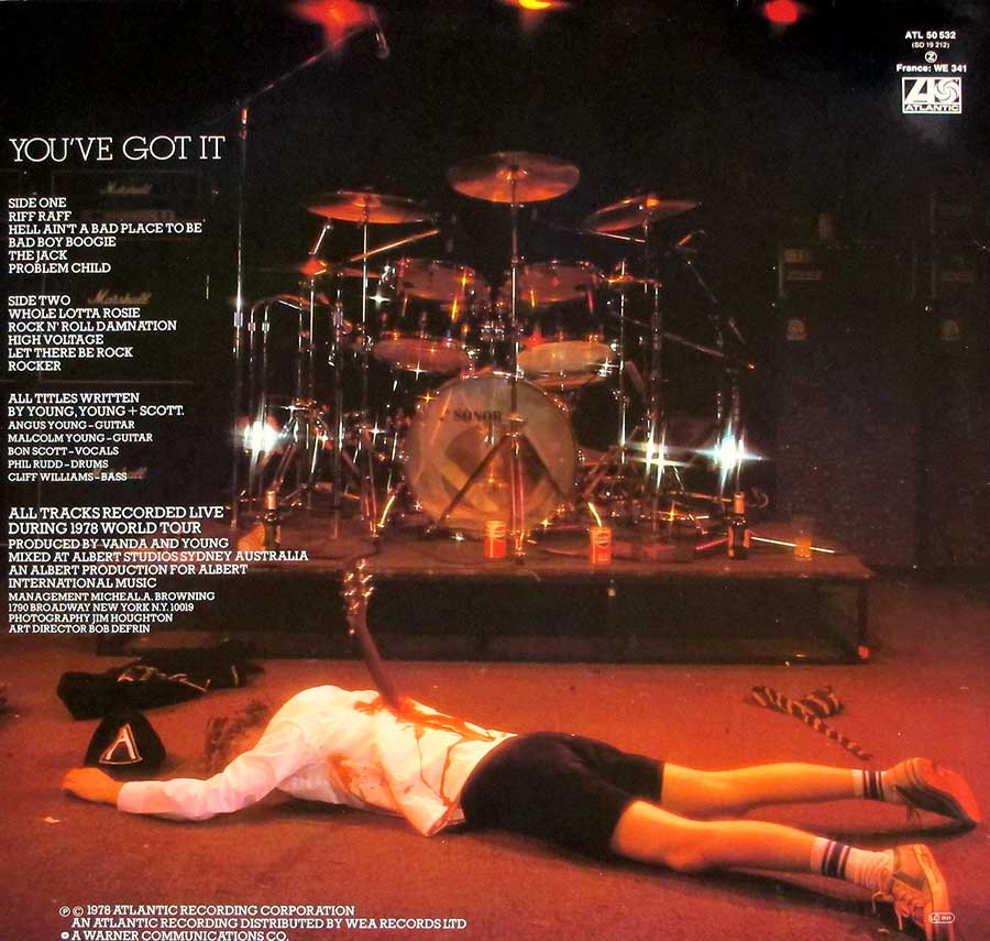 Photo of album back cover AC/DC - If You Want Blood You've Got It