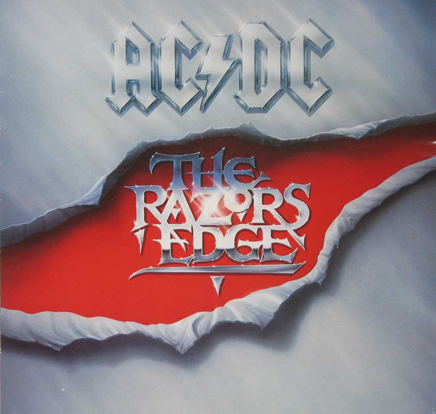 Front Cover Photo Of AC/DC - The Razors Edge ( ATCO Records )