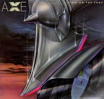 "Thumbnail Of  AXE - Living on the Edge ( 12"" LP ) album front cover"