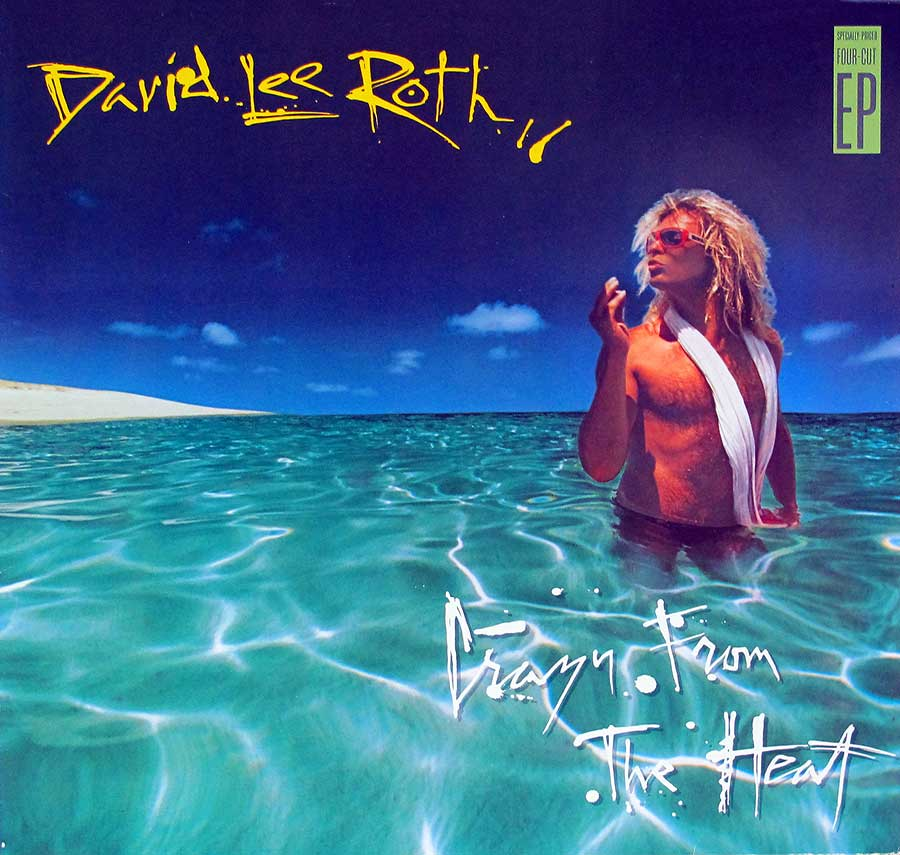 "DAVID LEE ROTH - Crazy From The Heat 4-Track 12"" Vinyl LP Album front cover https://vinyl-records.nl"