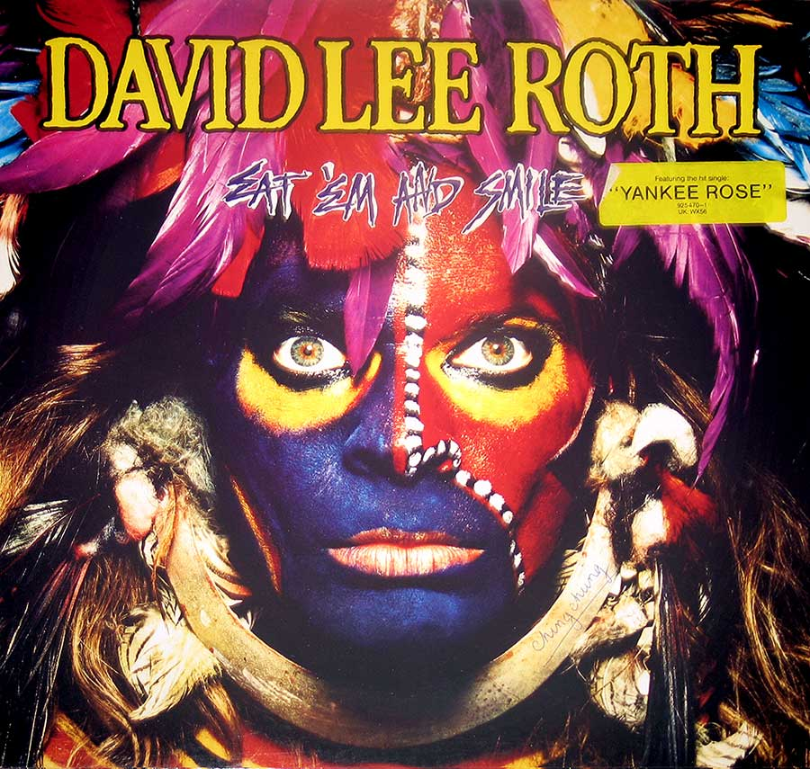 "Front Cover Photo Of DAVID LEE ROTH - Eat 'Em and Smile Steve Vai 12"" Vinyl LP Album"