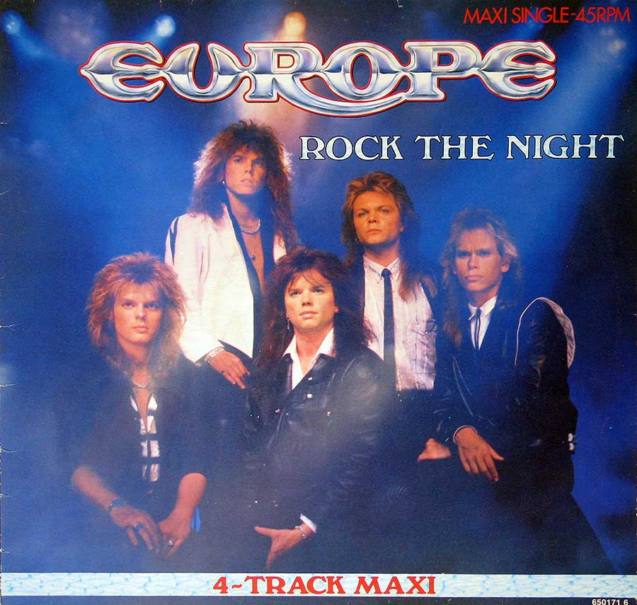 "Front Cover Photo Of EUROPE - Rock The Night 12"" Maxi-Single EP Vinyl"