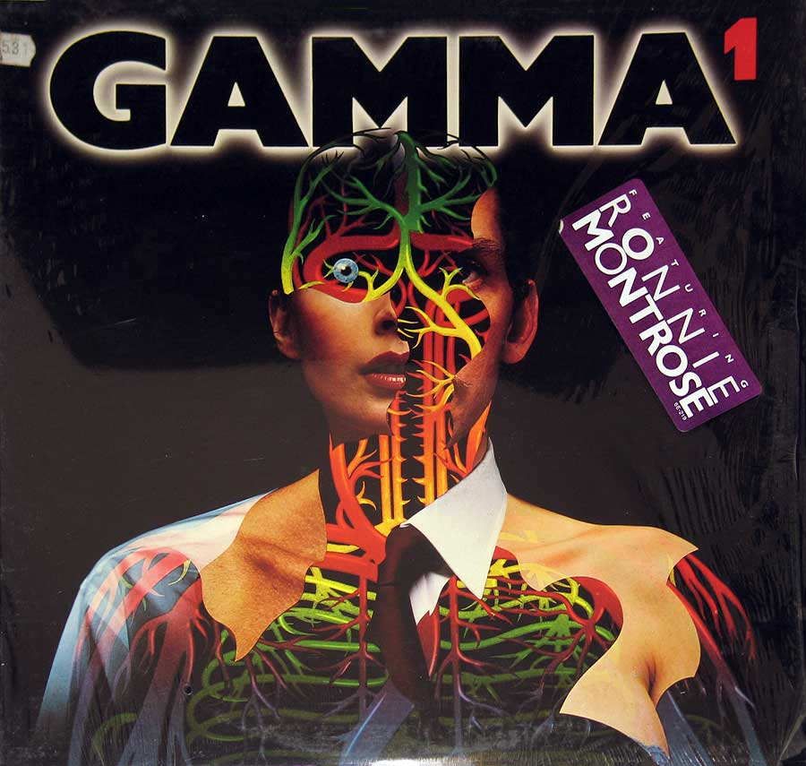 "GAMMA - 1 with Ronnie Montrose 12"" LP VINYL Album front cover https://vinyl-records.nl"