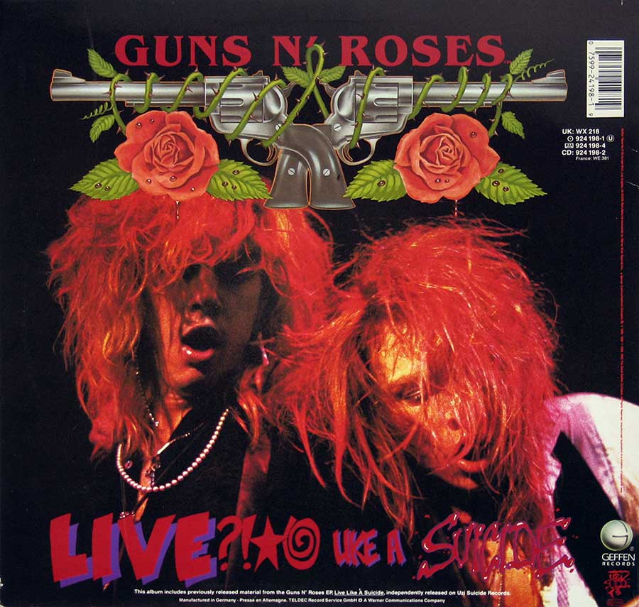 High Resolution Photo guns roses lies nudity