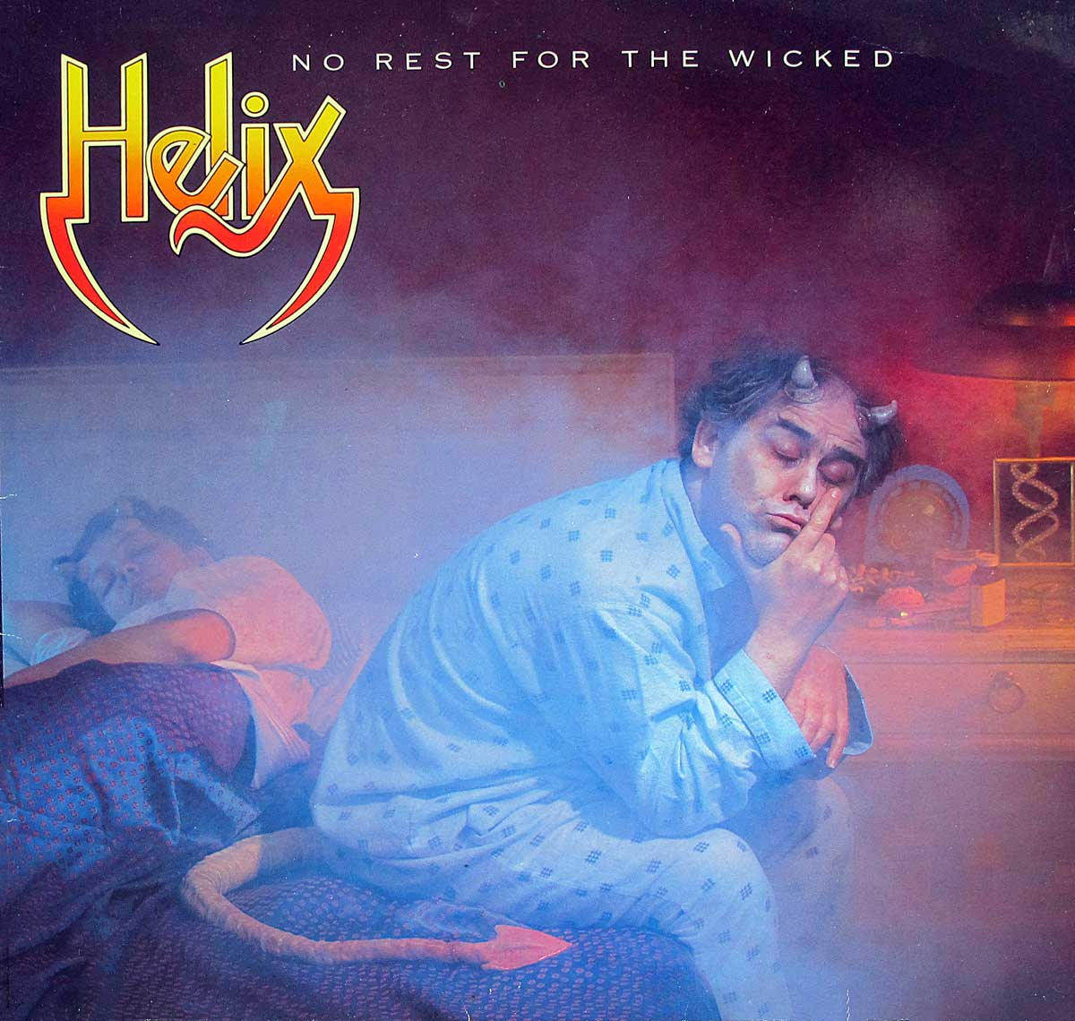 "Album Front Cover High Quality Photo of   ""HELIX - No Rest For the Wicked"""