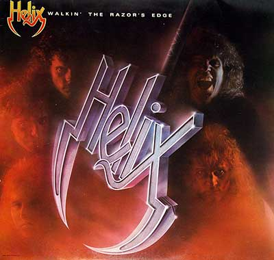 "Thumbnail Of  HELIX - Walkin' The Razor's Blade 12"" Vinyl LP album front cover"