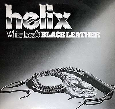 "Thumbnail Of  HELIX - White Lace & Black Leather 12"" Vinyl LP album front cover"