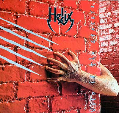 "Thumbnail Of  HELIX - Wild In The Streets 12"" Vinyl LP album front cover"