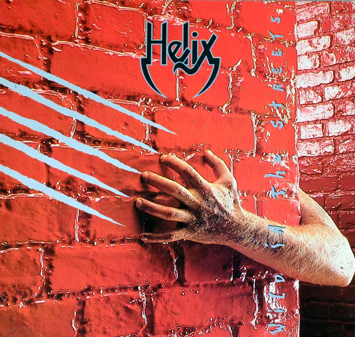 "High Quality Photo of Album Front Cover  ""HELIX - Wild in the Streets"""