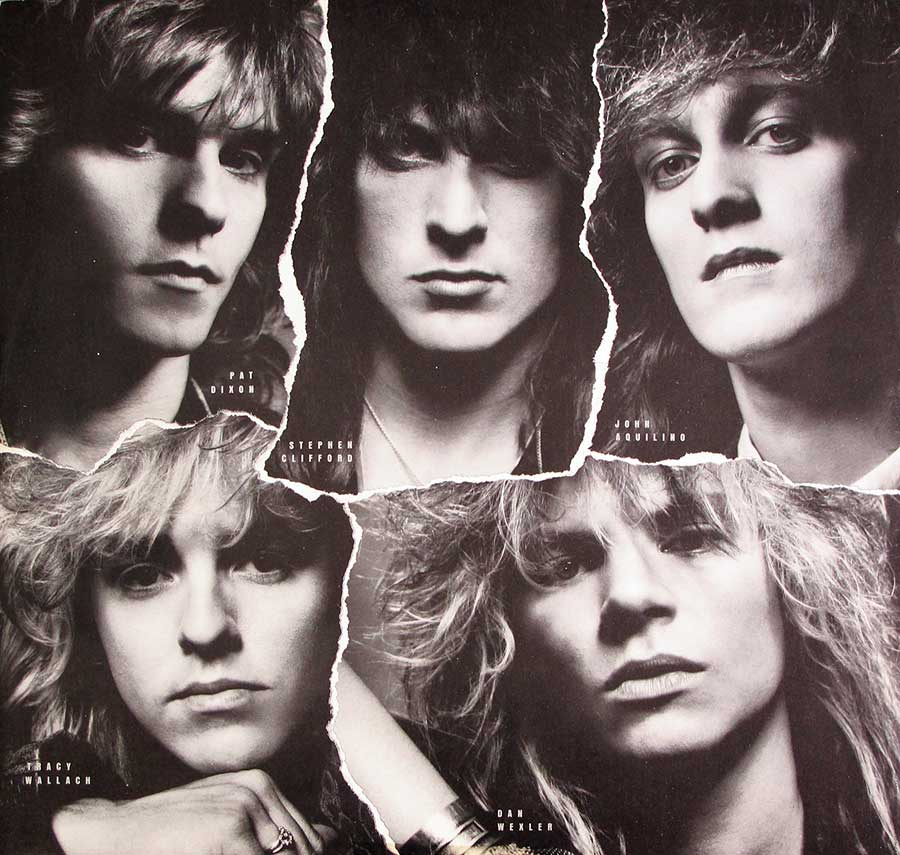 Five portrait photos of the ICON-band members are printed on the original custom inner sleeve