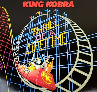 "Thumbnail of KING KOBRA - Thrill Of A Lifetime ( Germany ) 12"" LP album front cover"