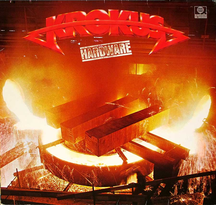 "KROKUS - Hardware French Release 12"" LP VINYL ALBUM front cover https://vinyl-records.nl"