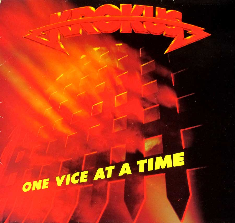 "KROKUS - One Vice At A Time Swiss Release 12"" LP VINYL ALBUM  front cover https://vinyl-records.nl"