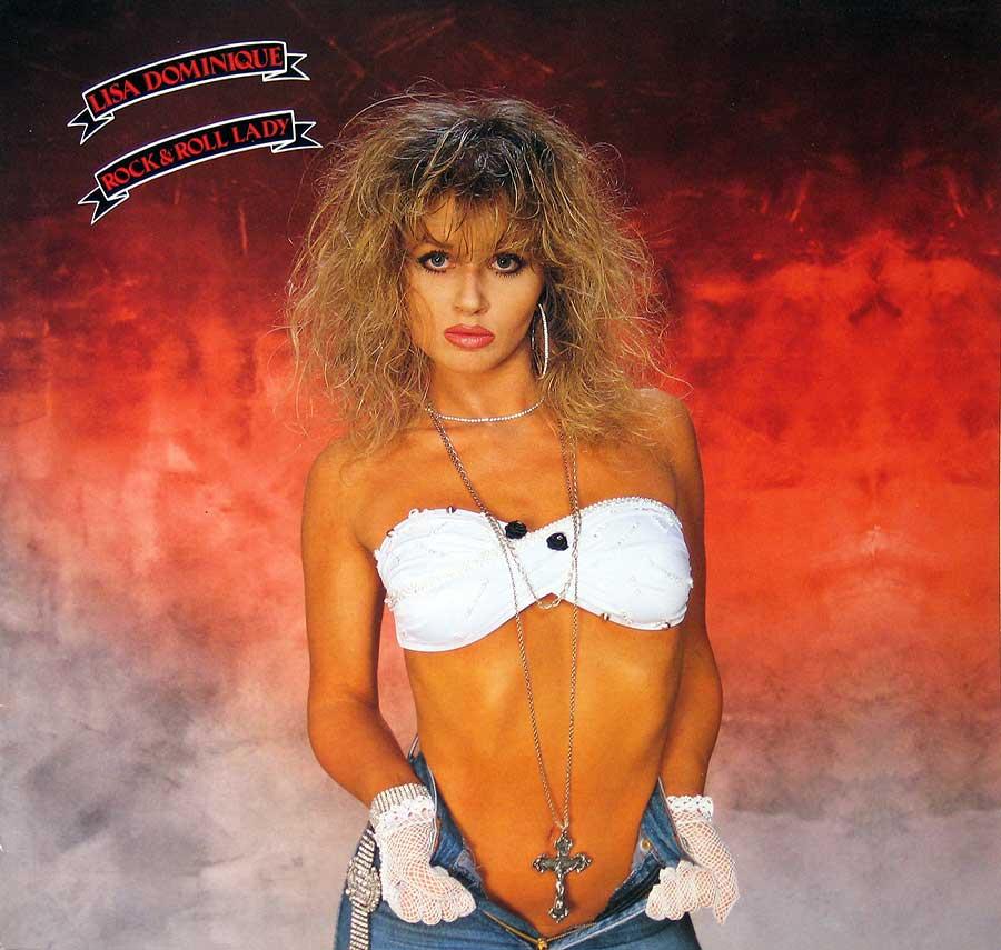 """LISA DOMINIQUE - Rock 'n' Roll Lady 12"""" VINYL LP ALBUM front cover https://vinyl-records.nl"""