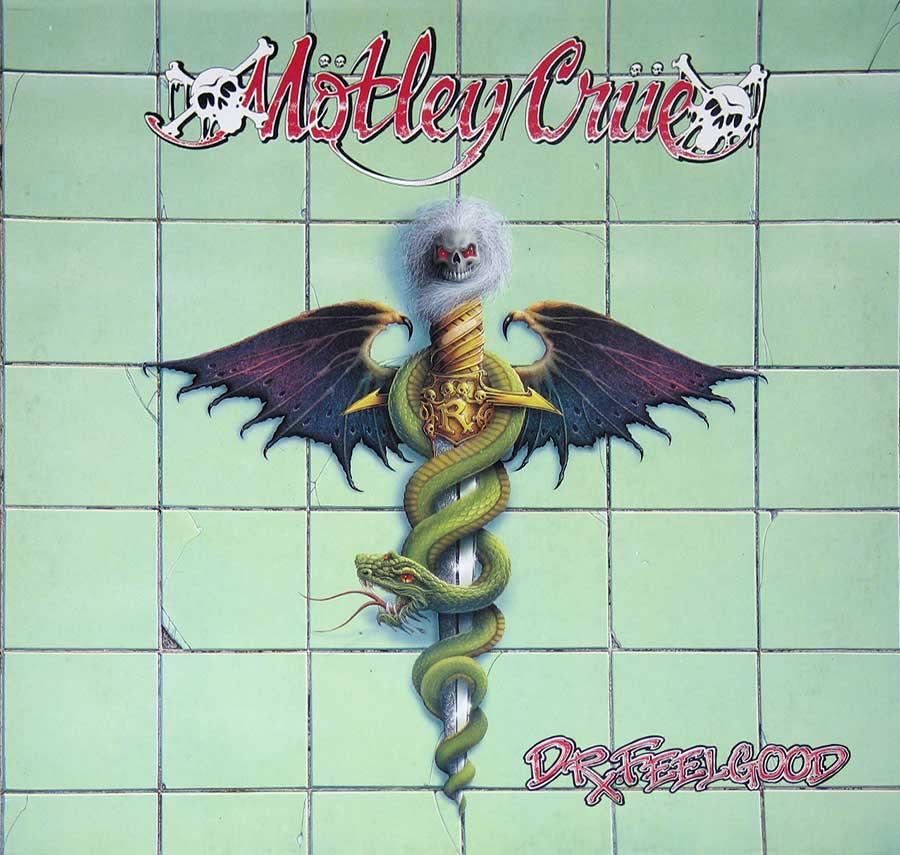 "MOTLEY CRUE - Dr Feelgood European Release 12"" Vinyl LP Album  front cover https://vinyl-records.nl"