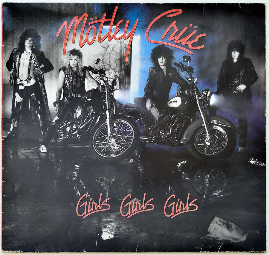 Front Cover Photo Of MOTLEY CRUE - Girls, Girls, Girls Elektra 960 725