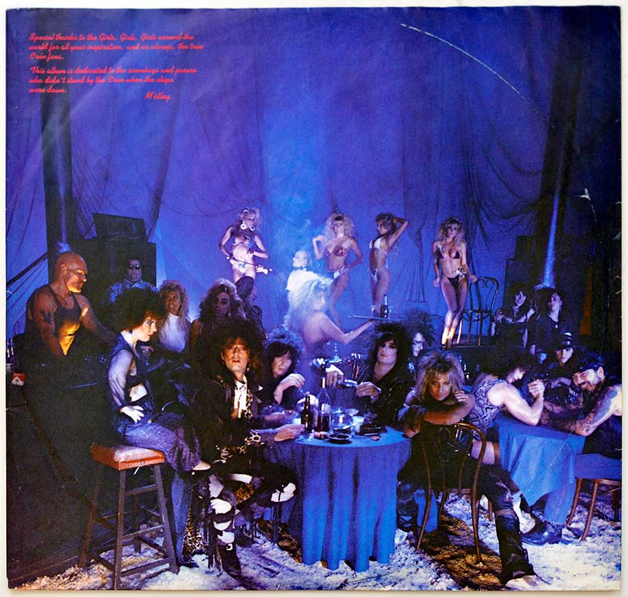 Photo #1 of the custom inner sleeve MOTLEY CRUE - Girls, Girls, Girls Elektra 960 725
