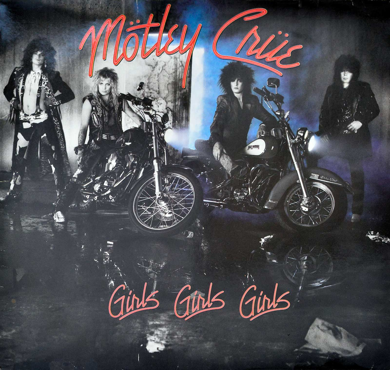 Large Album Front Cover Photo of MOTLEY CRUE - Girls, Girls, Girls Elektra 960 725