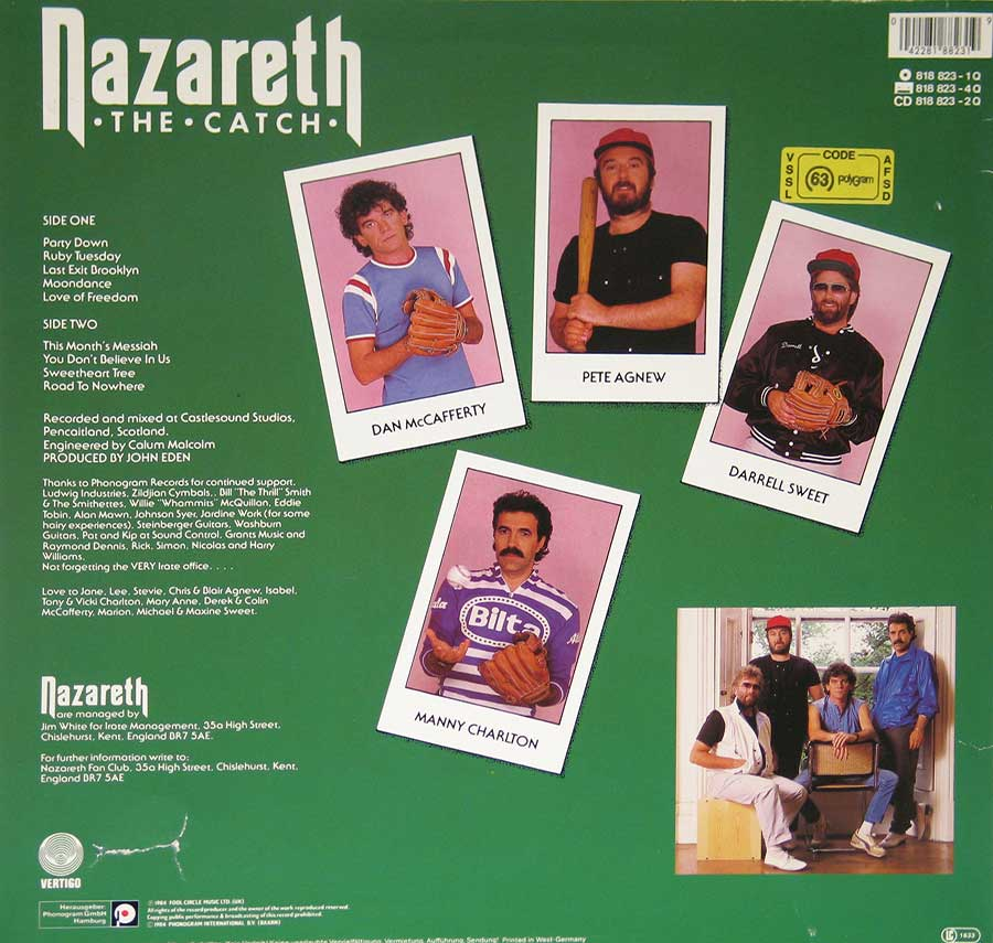 High Resolution Photo of Nazareth The Catch Sexy Cover