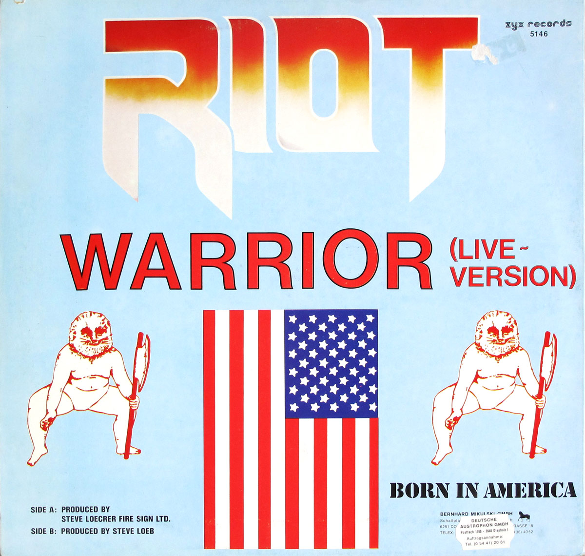 High Resolution Photo #2 RIOT Warrior Live