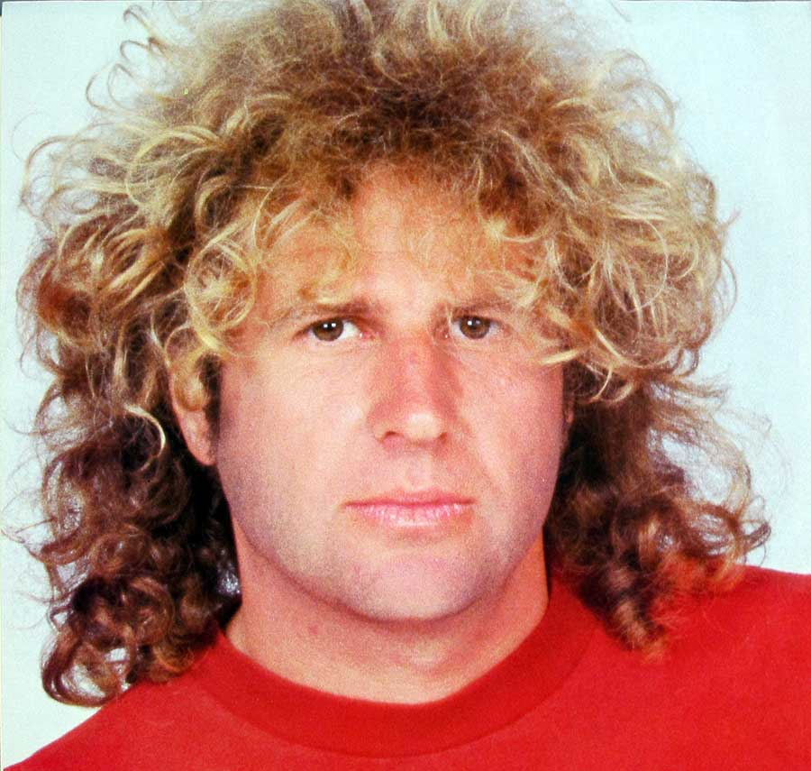 "Portrait of Sammy Hagar on Inner Sleeve of the ""VOA"" Album"