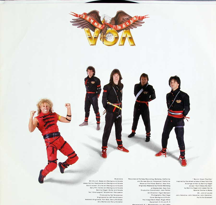"Photo of ""SAMMY HAGAR - VOA"" Album's Inner Sleeve"