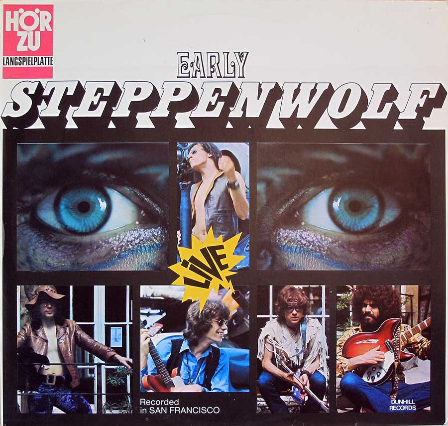 Front Cover Photo Of STEPPENWOLF - Early Steppenwolf Live in San Francisco