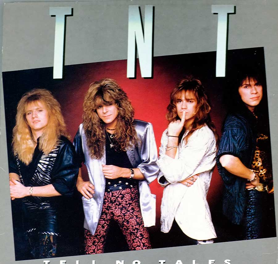 "TNT - Tell No Tales Norwegian Hard Rock Glam Metal 12"" LP VINYL  front cover https://vinyl-records.nl"