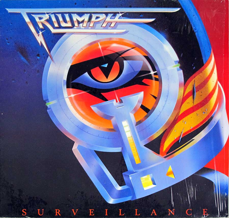 "TRIUMPH Surveillance Canadian Hard Rock 12"" LP VINYL ALBUM front cover https://vinyl-records.nl"