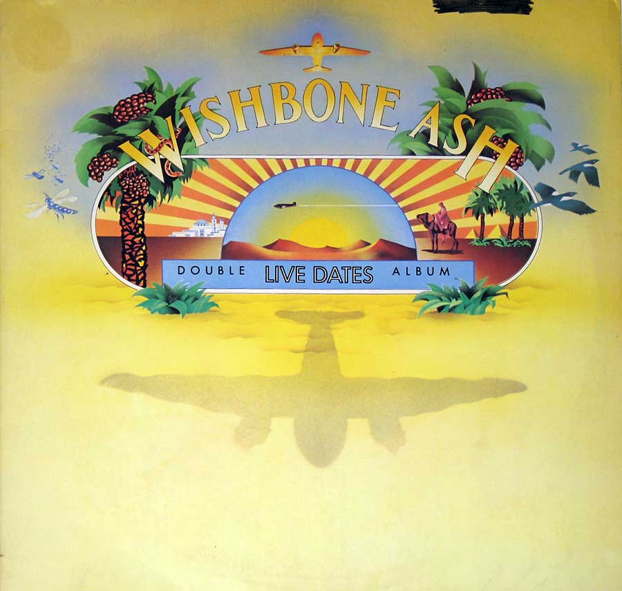 WISHBONE ASH - Live Dates Recorded in England 1973 2LP Vinyl Album  front cover https://vinyl-records.nl