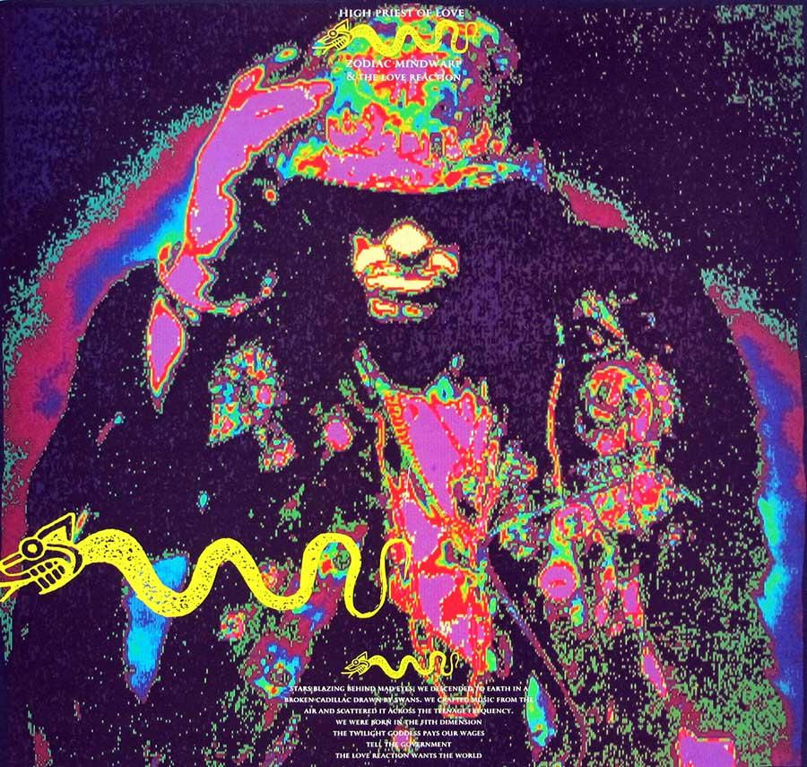 "ZODIAC MINDWARP & THE LOVE REACTION - High Priest of Love 12"" LP VINYL ALBUM front cover https://vinyl-records.nl"