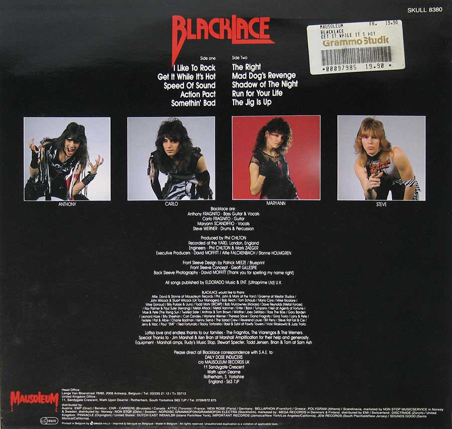 High Resolution Photo #11 BLACKLACE - Get It While https://vinyl-records.nl