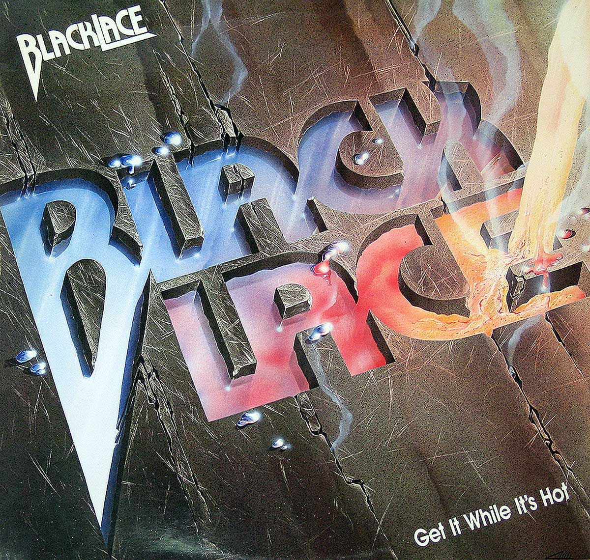 large photo of the album front cover of: BLACKLACE GET IT WHILE IT'S HOT