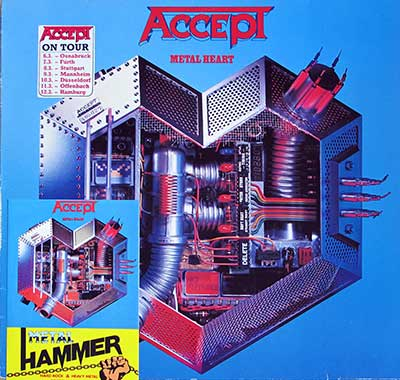 "Thumbnail of ACCEPT - Metal Heart  12"" Vinyl LP Album album front cover"