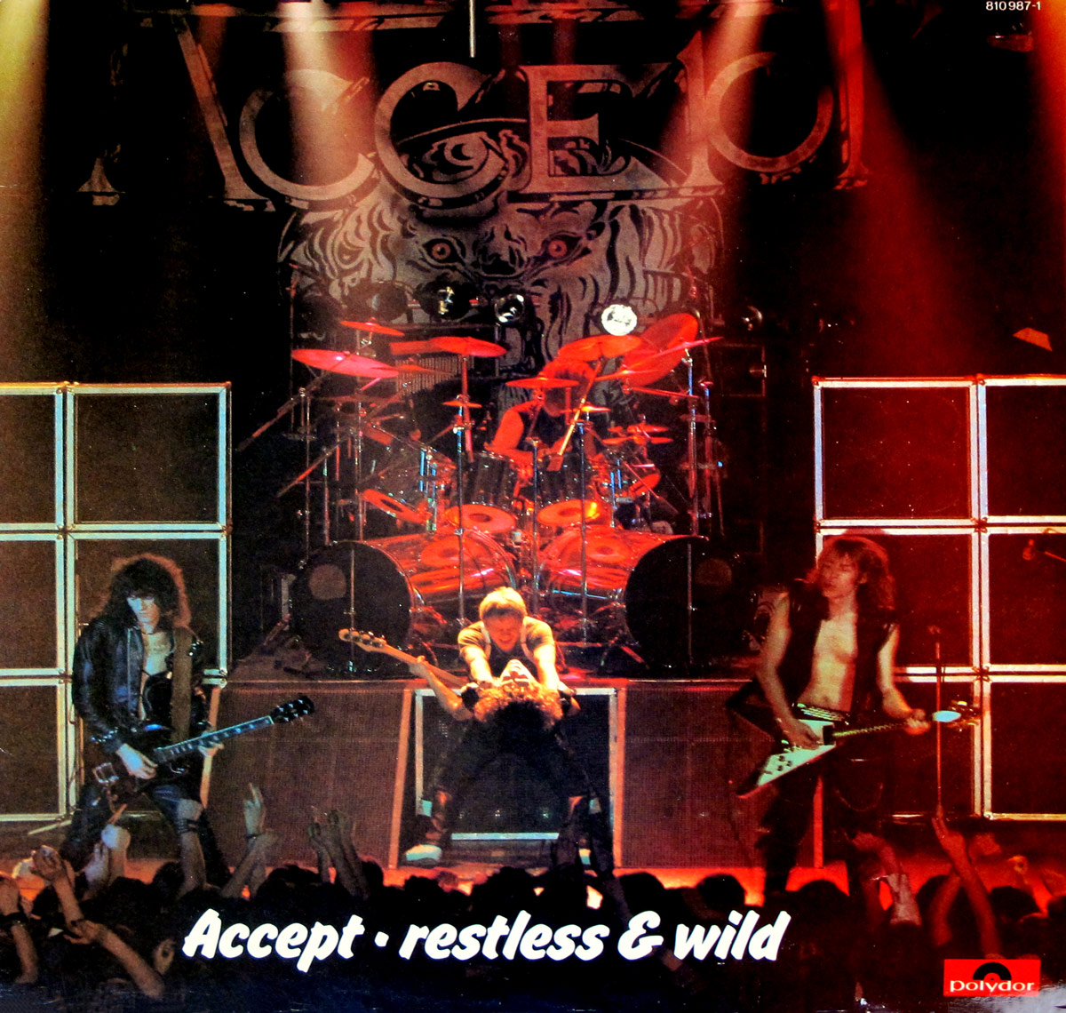 "High Quality Photo of Album Front Cover  ""ACCEPT - Restless and Wild"""