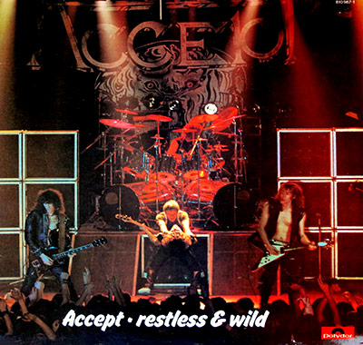 "Thumbnail of ACCEPT - Restless and Wild ( France ) 12"" Vinyl LP Album album front cover"