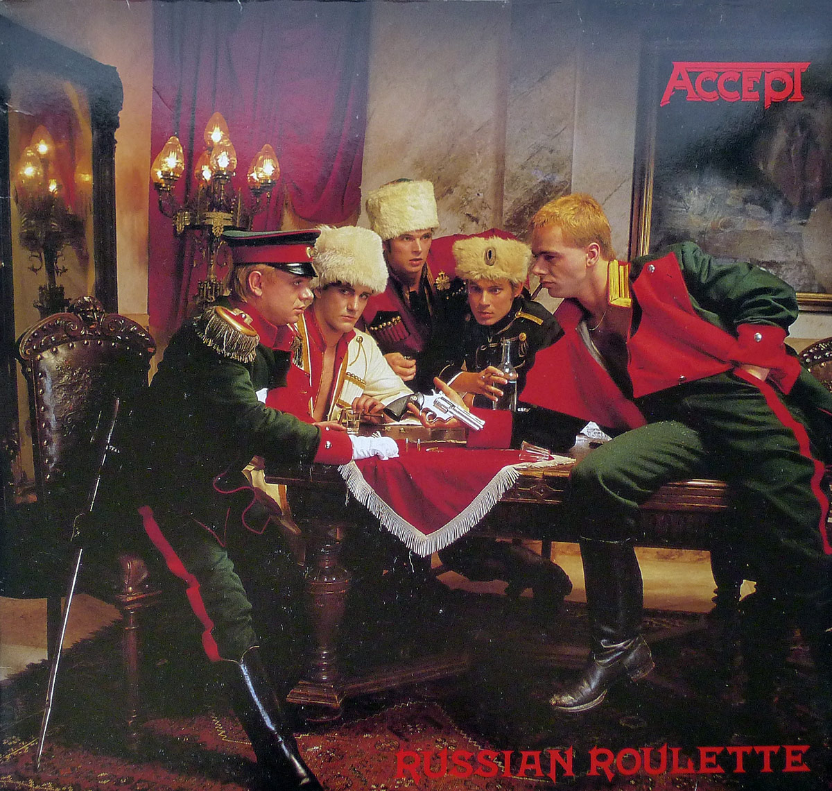 "Large Hires Photo of Front Cover of ""Russian Roulette"" by Accept"
