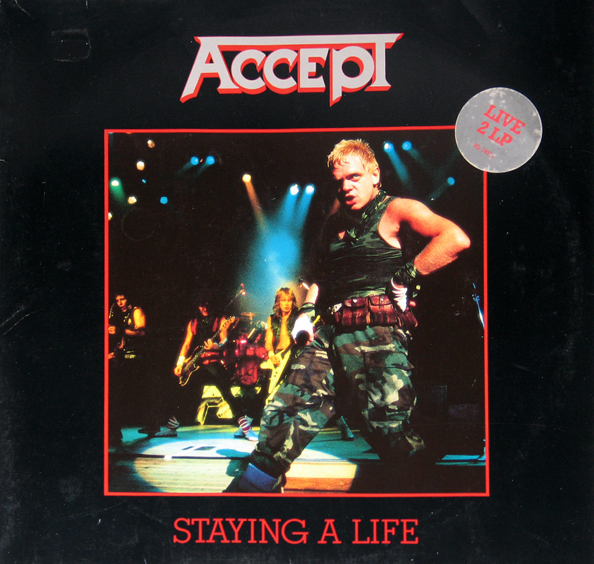 Album Front cover photo of : Accept Staying A Life 2LP