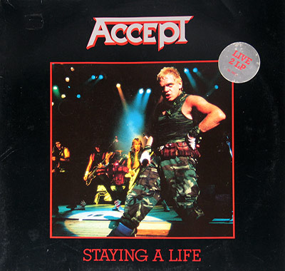 "Thumbnail of ACCEPT - Staying A Life 12"" Vinyl LP Album album front cover"