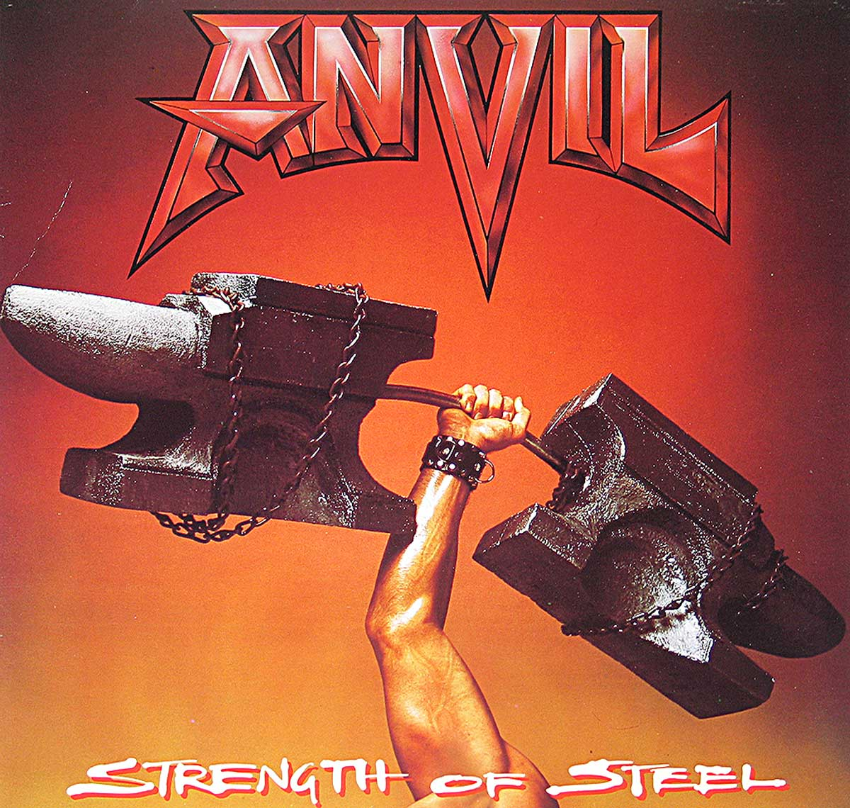 large photo of the album front cover of: Anvil Strength of Steel