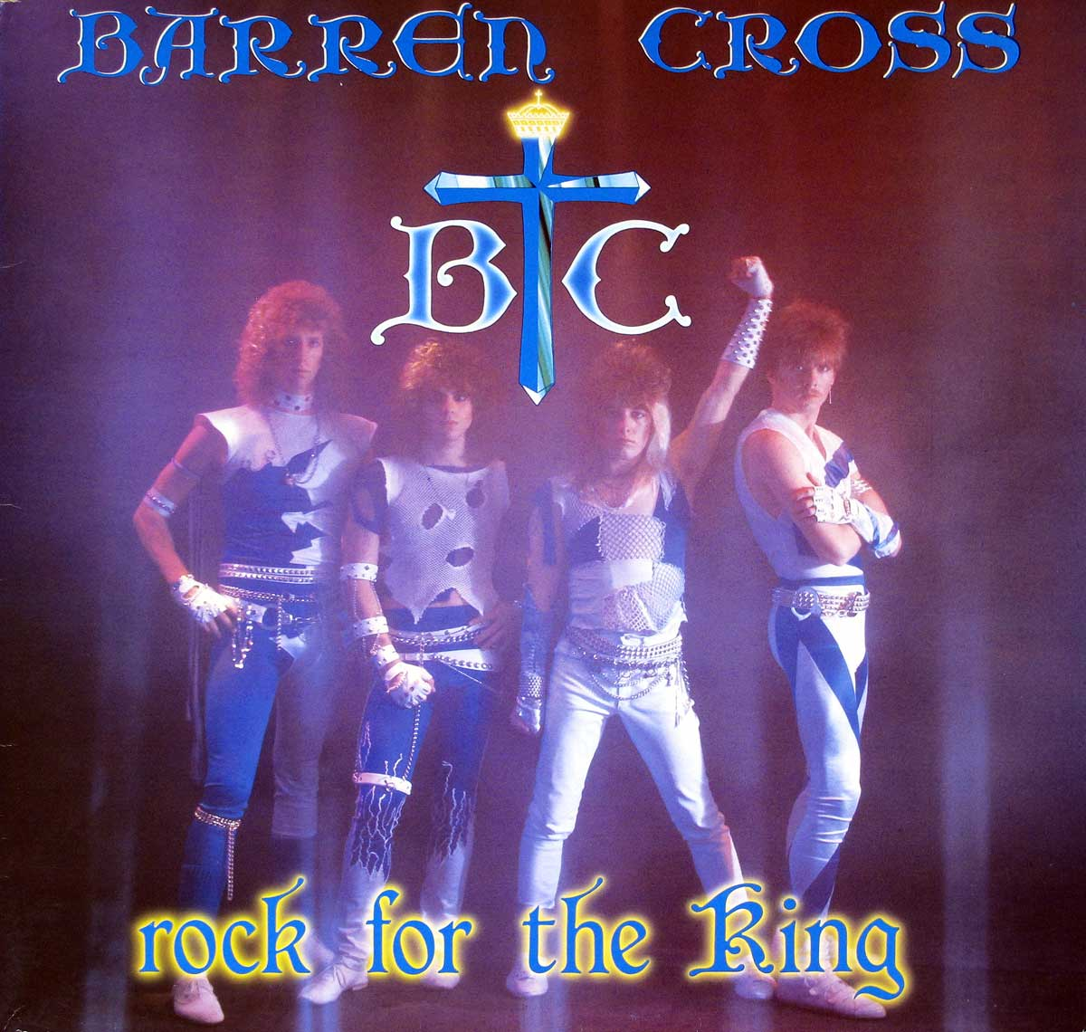 "High Quality Photo of Album Front Cover  ""BARREN CROSS - Rock for the King"""
