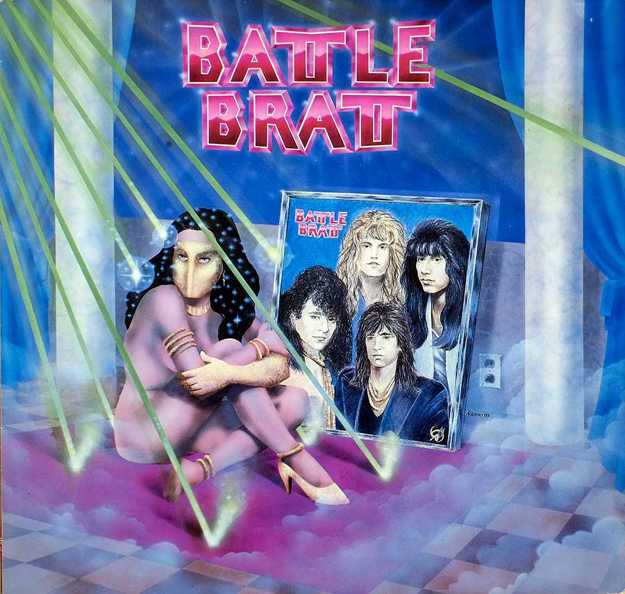 "High Quality Photo of Album Front Cover  ""BATTLE BRATT - S/T Self-Titled"""
