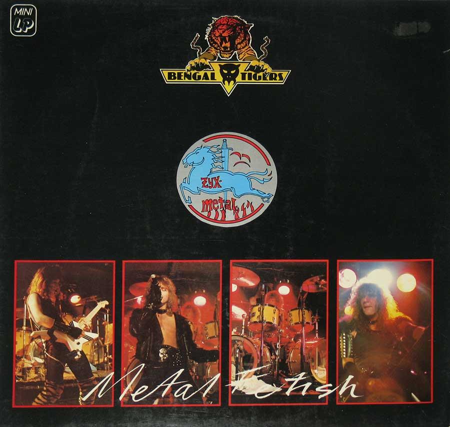 "BENGAL TIGERS - Metal Fetish ZYX Metal Mushroom Records 12"" vinyl LP Album front cover https://vinyl-records.nl"